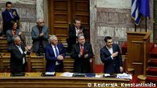 Griechenland Debatte im Parlament zu Nord Mazedonien
