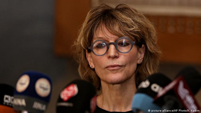 Agnes Callamard Sonderberichterstatterin UN für außergerichtliche, summarische oder willkürliche Hinrichtungen (picture-alliance/AP Photo/K. Kadim)