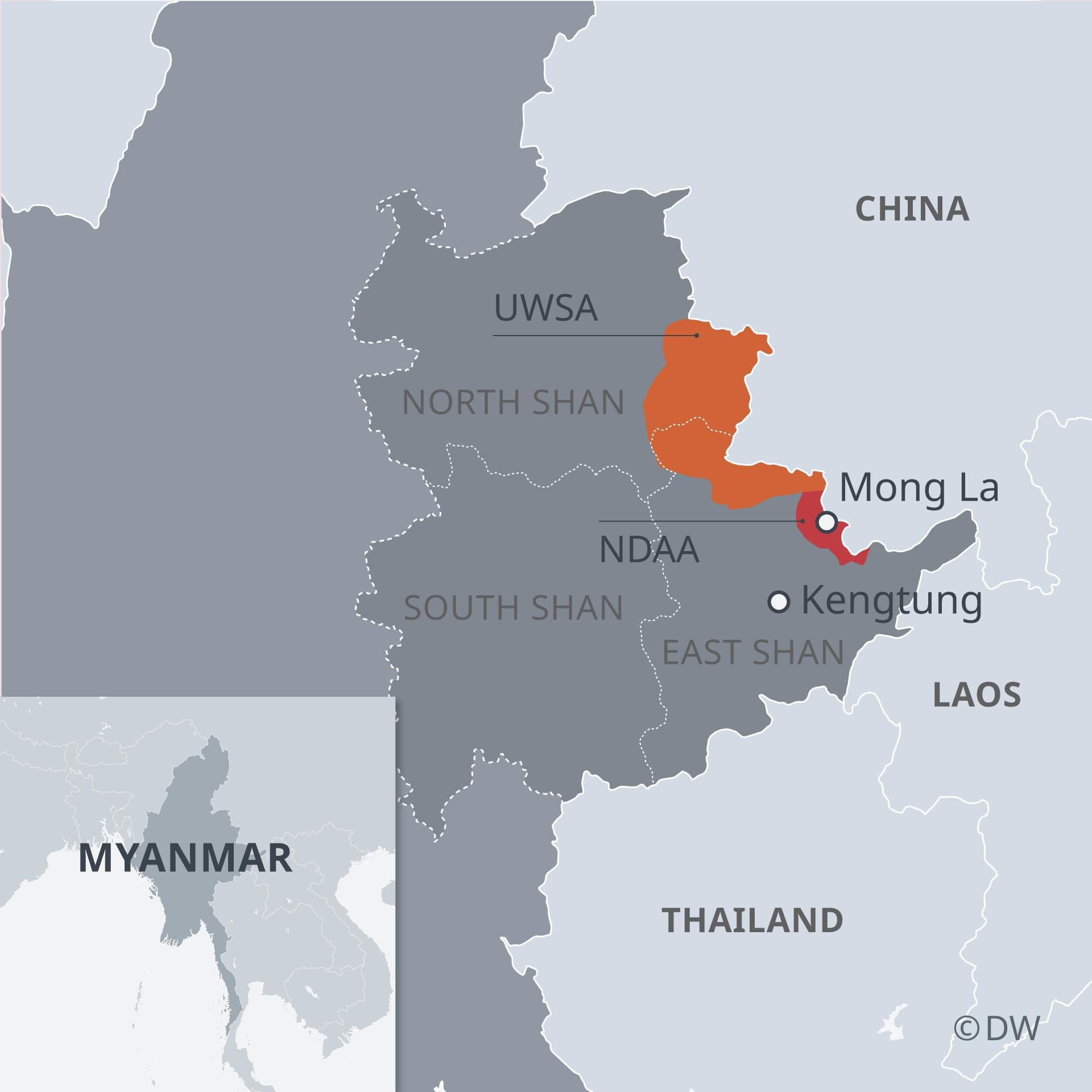 Karte Myanmar Shan State EN