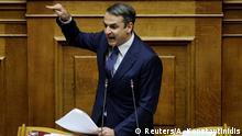 Griechenland Debatte im Parlament zu Nord Mazedonien Mitsotakis