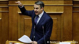 Griechenland Debatte im Parlament zu Nord Mazedonien Mitsotakis (Reuters/A. Konstantinidis)