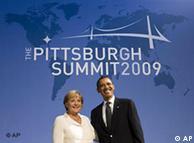 默克尔与奥巴马在G20峰会