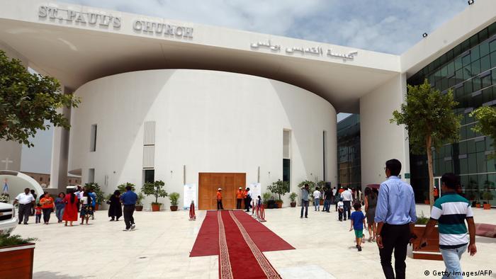 La iglesia católica de San Pablo en Abu Dhabi abrió sus puertas en 2015