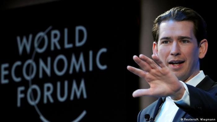 Sebastian Kurz at Davos 2019 World Economic Forum (WEF) annual meeting