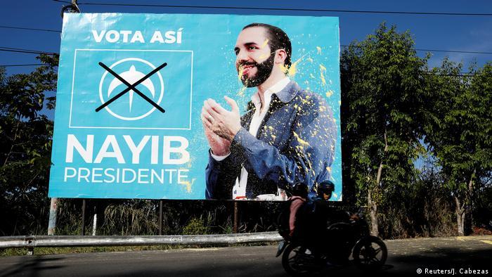 El Salvador Nayib Bukele GANA Präsidentschaftskandidat Wahlplakat