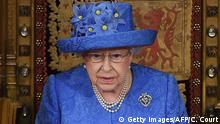 Britain's Queen Elizabeth II delivers the Queen's Speech during the State Opening of Parliament in the Houses of Parliament in London on June 21, 2017. Queen Elizabeth II will formally open parliament and announce the British government's legislative programme on Wednesday, two days later than planned. The state opening, a ceremony full of pomp in which the monarch reads out the Queen's Speech detailing the government's programme for the coming year, was due to take place on June 19, but was delayed after Britain's Prime Minister Theresa May's Conservative party lost their majority in the House of Commons in the June 8 election. / AFP PHOTO / POOL / Carl Court (Photo credit should read CARL COURT/AFP/Getty Images)