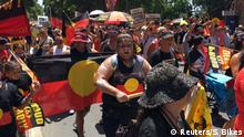 Australien Sydney Protest von Aborigines am Australia Day