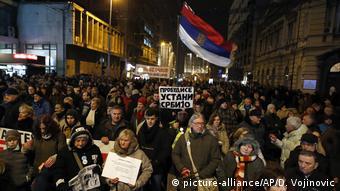 Антиправительственные протесты в Сербии 19 января