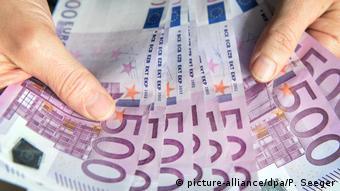 Купюры номиналом в 500 евро