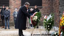 Deutschland NRW-Ministerpräsident Laschet besucht Auschwitz