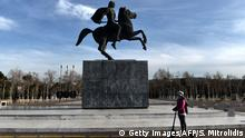 Griechenland Statue von Alexander der Größe in Thessaloniki