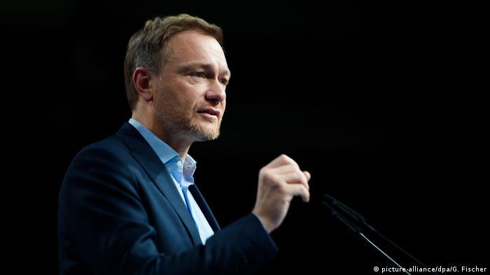FDP-Chef Christian Lindner vor den Delegierten