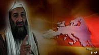 Picture of bin Laden on TV