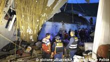 Peru | Rettungskräfte in den Trümmern des eingestürzten Alhambra Hotel in Abancay