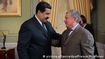 Николас Мадуро и Игорь Сечин, фото из архива