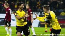 Fußball Bundesliga | Borussia Dortmund - Hannover 96 | Achraf Hakimi und Marco Reus