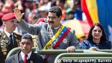 Venezuela Präsident Nicolas Maduro während der Militärparade in Caracas