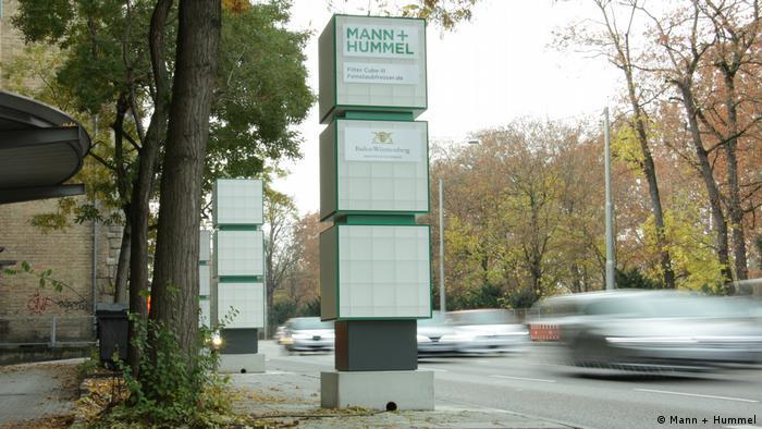 Mann+Hummel filter systems alongside a road