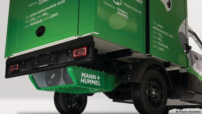 Mann+Hummel filter under a Streetscooter