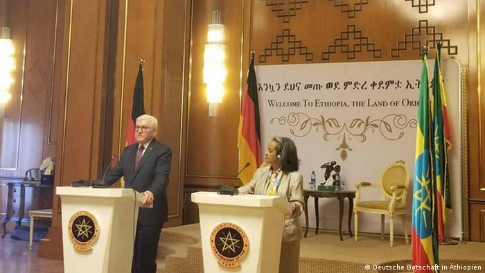 Äthiopien Addis Abeba Nationalpalast | Bundespräsient Frank-Walter Steinmeier & Sahle-Work Zewde, Präsident