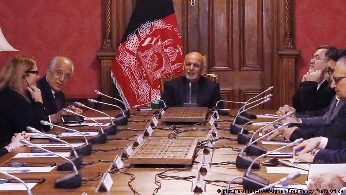 Afghanistan Zalmay Khalilzad in Kabul
