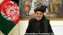 Afghanistan TV Ansprache Aschraf Ghani (Reuters/Afghan Presidential Palace office)