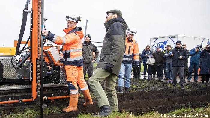 Wildschweinzaun an der Grenze Deutschland - Dänemark