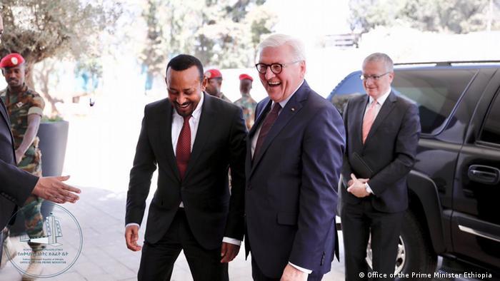 Gute Stimmung in Addis Abeba: Der äthiopische Regierungschef Abiy Ahmed empfängt Bundespräsident Frank-Walter Steinmeier (Foto: Office of the Prime Minister Ethiopia )