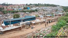 Slum Kibera in Kenia