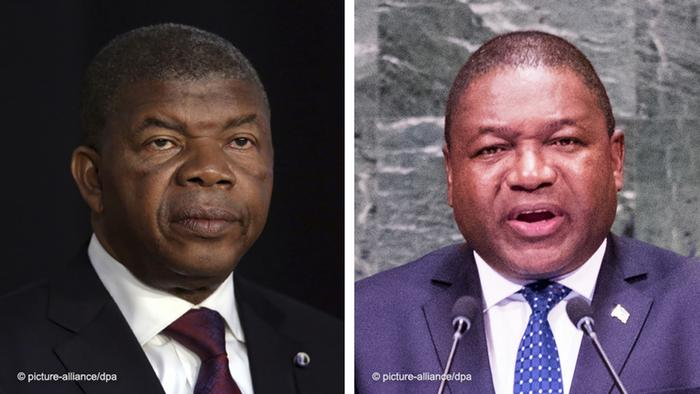 Filipe Nyusi (Präsident von Mosambik) und João Lourenço (Präsident von Angola)