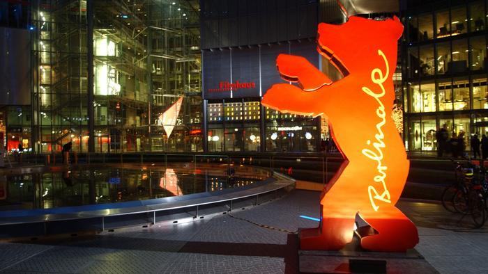 Acesso principal ao salão de eventos do Festival de Cinema de Berlim