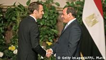 Ägypten Emmanuel Macron, Präsident Frankreich & Abdel Fatah Al-Sisi in Kairo