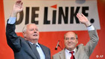 Gregor Gysi and Oskar Lafontaine of the Left Party