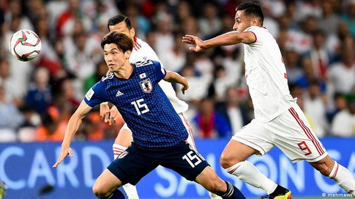 Irans Fußball-Nationalmannschaft beim Halbfinale gegen Japan am 28.01.2019, Asien Cup 2019