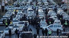 Spanien, Madrid, Taxifahrer-Streik