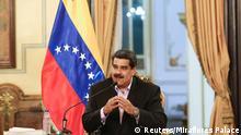 Venezuela, Caracas: Nicolas Maduro hält eine Ansprache