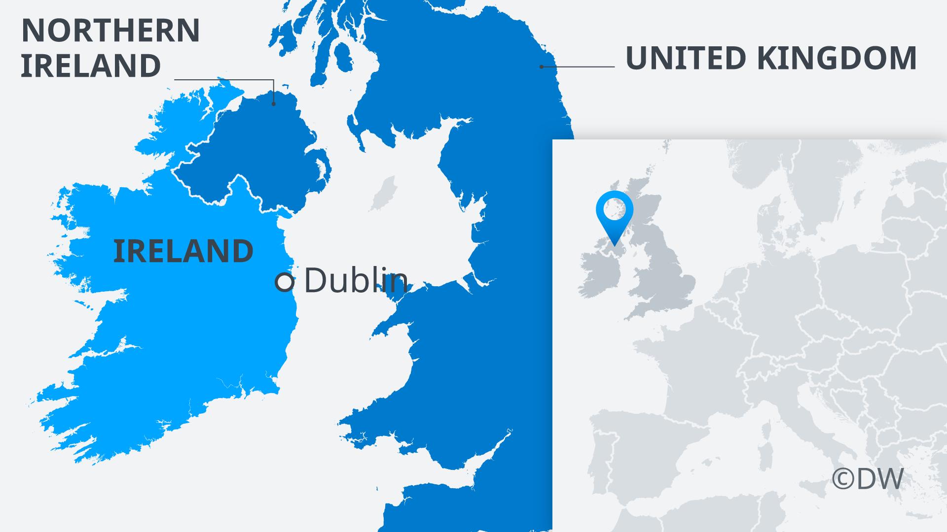 Infografik Karte Irland und Nordirland EN