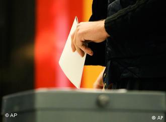 Ballot box with German flag