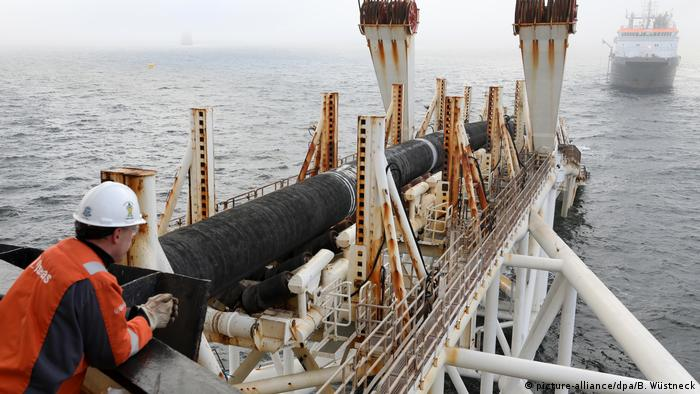 Pipelaying vessel in the Baltic Sea off the coast of Germany.