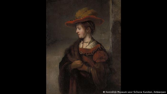 Portrait of Saskia (1652-1654) (Koninklijk Museum voor Schone Kunsten, Antwerpen)