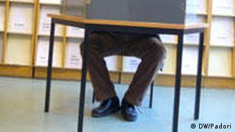 Один из избирательных участков в Берлине