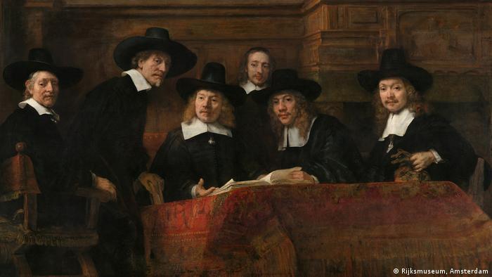 Rembrandt: Die Vorsteher der Amsterdamer Tuchmacherzunft (1662) (Rijksmuseum, Amsterdam)