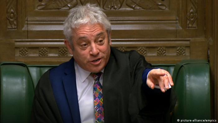 Großbritannien Parlament Brexit Abstimmung John Bercow (picture-alliance/empics)