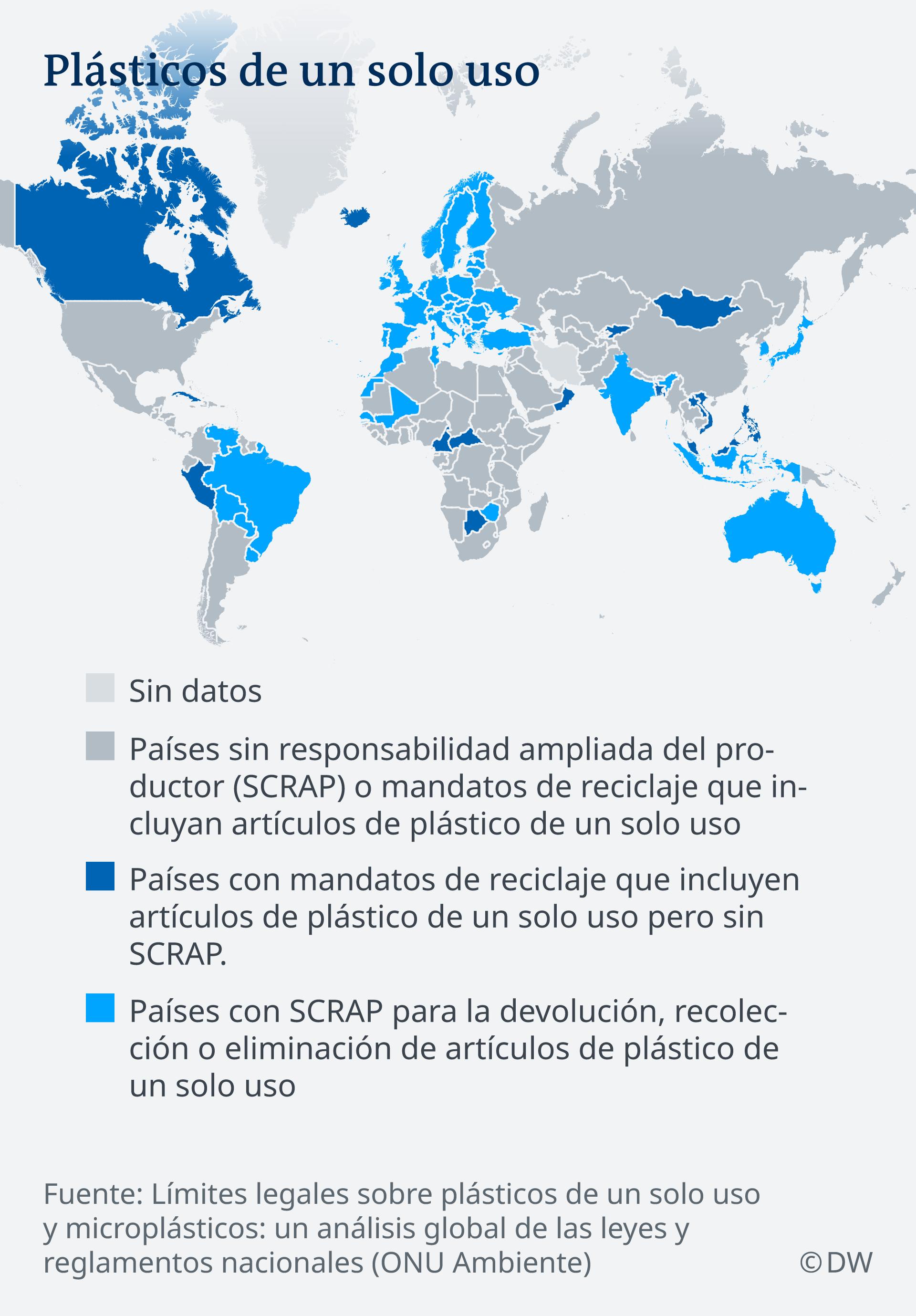 Infografik Karte Einwegplastik weltweit ES