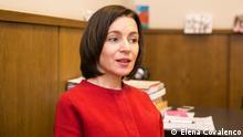 Maia Sandu ist eine bedeutende Oppositionspolitikerin der Republik Moldau, Präsidentin der Partei Aktion und Solidarität. Copyright: Elena Covalenco