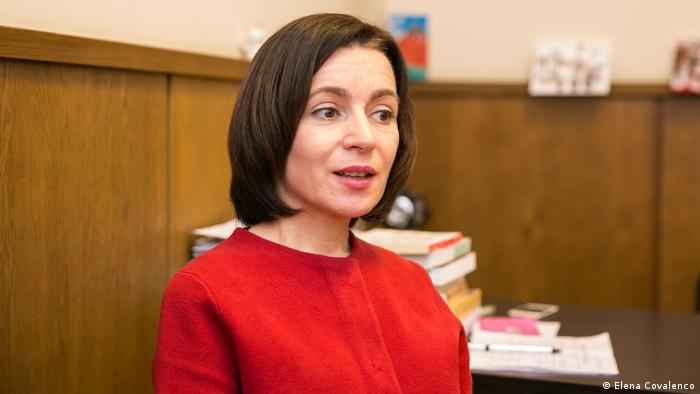 Maia Sandu Oppositionspolitikerin der Republik Moldau