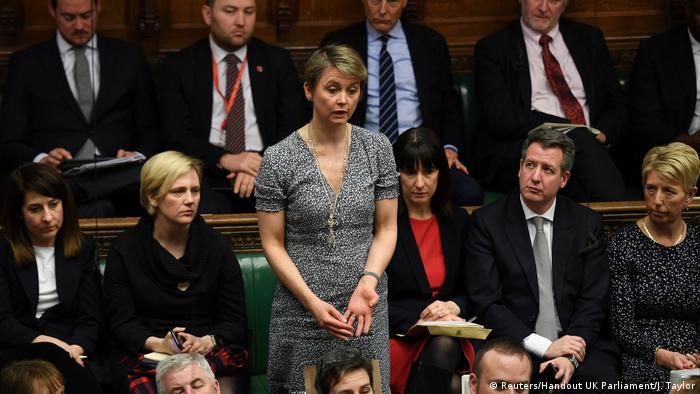 MPs vote against Labour lawmaker Yvette Cooper's proposal to delay Brexit
