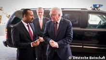 28.01.2019 Bundespräsident Steinmeier mit äthiopischem Premierminister Abiy Ahmed in Addis Abeba. Autor/Copyright: Deutsche Botschaft in Addis