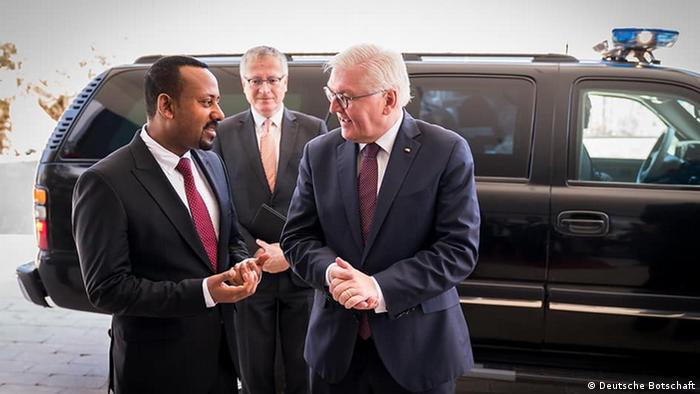 Ethiopian Prime Minister Abiy Ahmed meets with German President Frank-Walter Steinmeier