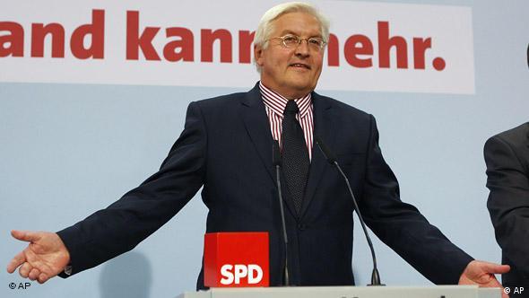 Deutschland Bundestagswahlen 2009 SPD Pressekonferenz Frank-Walter Steinmeier